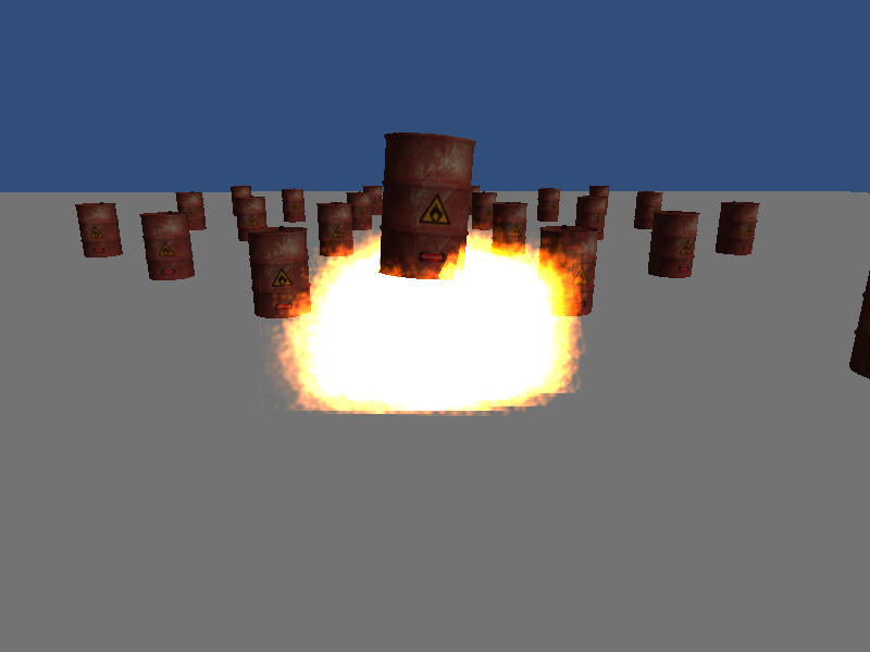 Exploding barrel for Unity